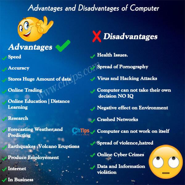 Advantages and Disadvantages of Computer